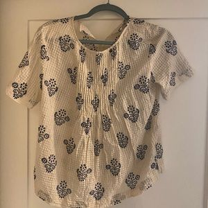 Madewell - size 6 cream shirt